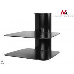 Maclean MC-556 DVD Wandhalter mit 2 Glasböden