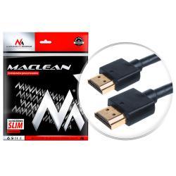 Kabel HDMI - HDMI v 1.4 vergoldet SLIM Kabel 3D Full HD 1m Maclean MCTV-701